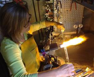 At my torch