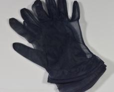 Vintage Sheer Black Gloves